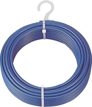 【代引不可】【メーカー直送】 トラスコ中山【建築金物】メッキ付ワイヤロープ PVC被覆タイプ Φ4(6)mmX200m CWP4S200 (4891244)【ラッピング不可】