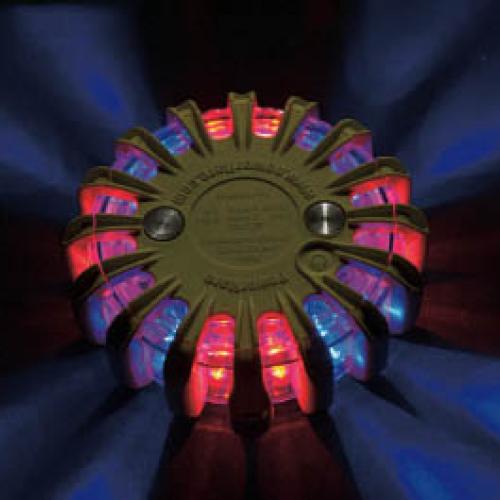 【代引不可】【メーカー直送】 パワーフレア社【安全用品】 セーフティライト 赤・青 PF210RBY (7607091)【ラッピング不可】
