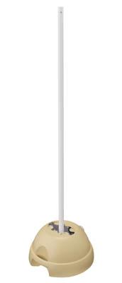 【代引不可】【メーカー直送】 ユニット【標識・標示】3WAYベース ベースΦ500×260ポールΦ38.1×1800 834011 (3346811)【ラッピング不可】