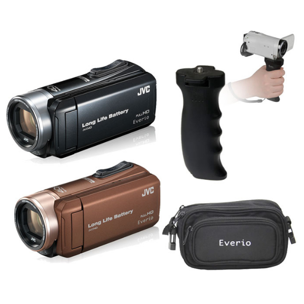 ビデオカメラ セット JVCケンウッド GZ-L500 (カラー選択式)&EM-L5000BGP&バッグ