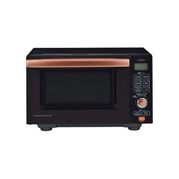 ツインバード センサー付フラットオーブンレンジ DR-E851BR ブラウン キッチン家電 TWIBIRD(ラッピング不可)