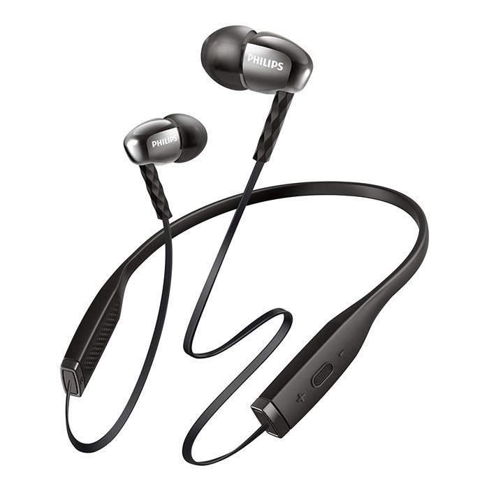PHILIPS(フィリップス) マイク付ワイヤレスインイヤーヘッドフォン SHB5950BK ブラック [Bluetooth対応][ネックバンド型イヤホン]