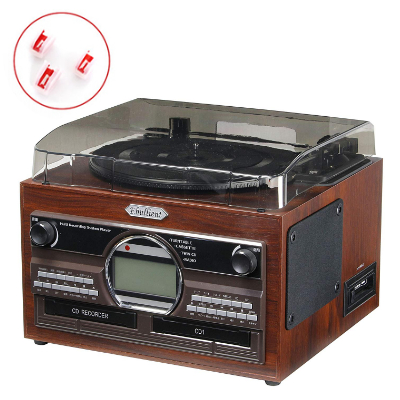 【替え針3本付き!】とうしょう(TOHSHOH) 木目調WCDコピーマルチプレーヤー TS-6160 [CD・レコード・カセットをCDに録音できる!]
