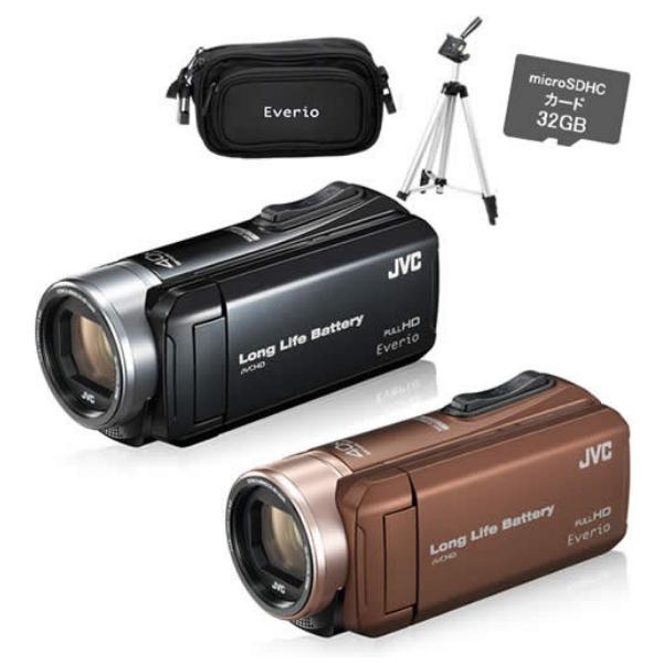 【SD・バッグ・三脚セット】JVCケンウッド GZ-L500 ハイビジョンメモリームービー [Everio/エブリオ][ムービーカメラ][ビデオカメラ][GZL500][カラー選択式]