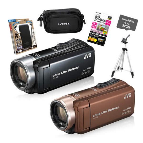 【6点セット】JVCケンウッド GZ-L500 ハイビジョンメモリームービー [Everio/エブリオ][ムービーカメラ][ビデオカメラ][GZL500][カラー選択式]