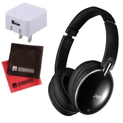 【ACアダプター&クロス付!】JVCケンウッド HA-S88BN ワイヤレスヘッドセット [Bluetooth][ヘッドバンド型ヘッドホン][HAS88BN]