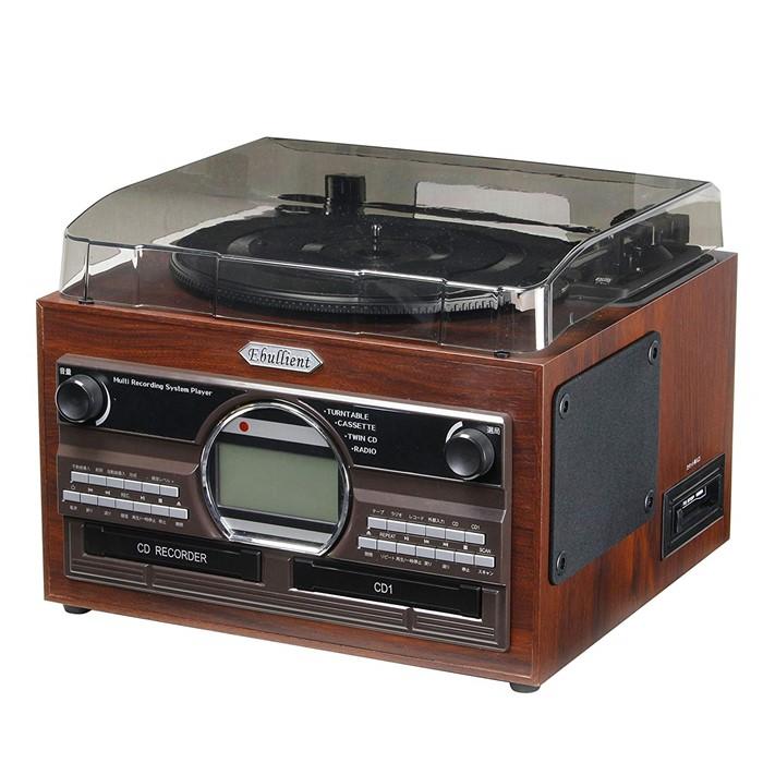 (限定生産)とうしょう(TOHSHOH) 木目調WCDコピーマルチプレーヤー TS-6160 [CD・レコード・カセットをCDに録音できる!]