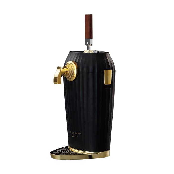 【ビールサーバー】 2缶ブレンド型超音波式カクテルビアサーバー グリーンハウス GH-BEERL-BK(ブラック)(ラッピング不可)