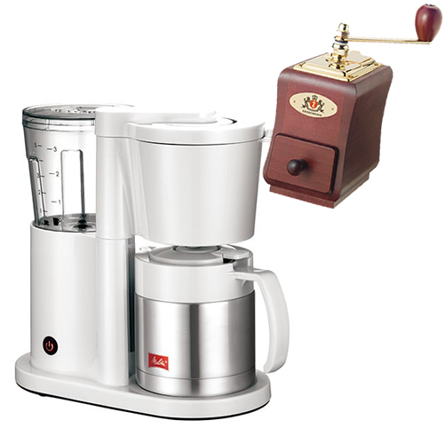 (ミルセット)メリタ(Melitta) コーヒーメーカー ホワイト オルフィ オルフィ ALLFI SKT52-3-W ホワイト コーヒーメーカー [2~5杯用][ペーパードリップ式][SKT523W] (ラッピング不可), ケージーロゼ:09714792 --- officewill.xsrv.jp