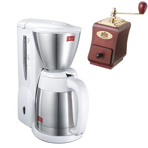(ミルセット)メリタ(Melitta) コーヒーメーカー ノア NOAR SKT54-3-W ホワイト [2~5杯用][ペーパードリップ式][SKT543W] (ラッピング不可)