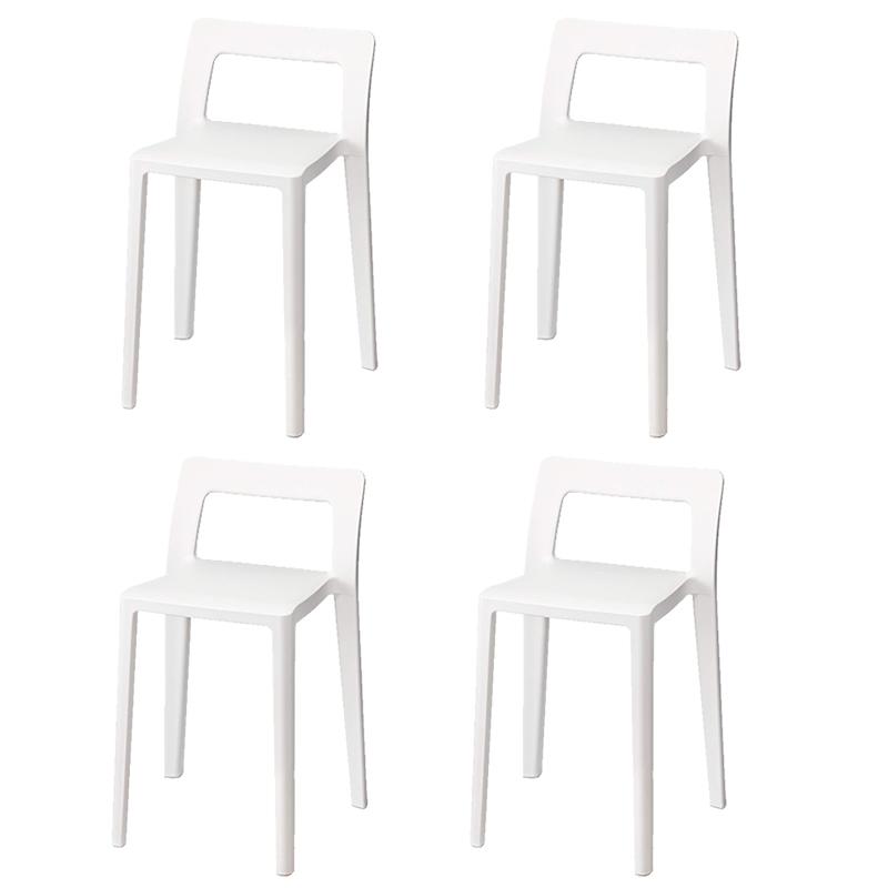 (4個セット)イス ダイニングチェア おしゃれ エノッツ ENOTS ミニマルチェア ENOMCH W ホワイト コンパクトチェア 椅子 ガーデンチェア(ラッピング不可)