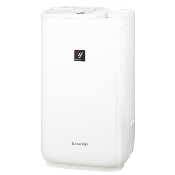 加湿器 シャープ プラズマクラスター加湿機 HV-J55-W ホワイト系/プレミアムホワイト ハイブリッド式 レギュラータイプ 加湿量550mL/h (SHARP)(ラッピング不可)