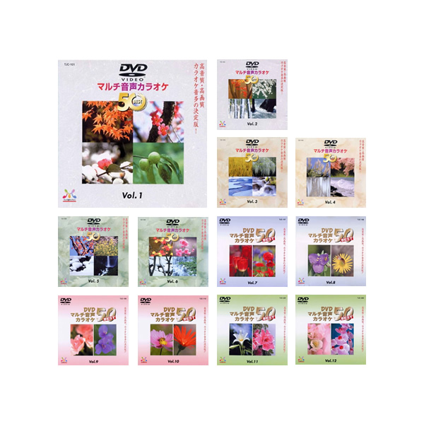 カラオケ dvd 600曲の大ボリューム カラオケ DVD音多カラオケ BEST50 12枚セット [Vol.1~12]