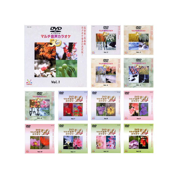 カラオケ dvd 650曲の大ボリューム カラオケ DVD音多カラオケ BEST50 13枚セット [Vol.1~13]