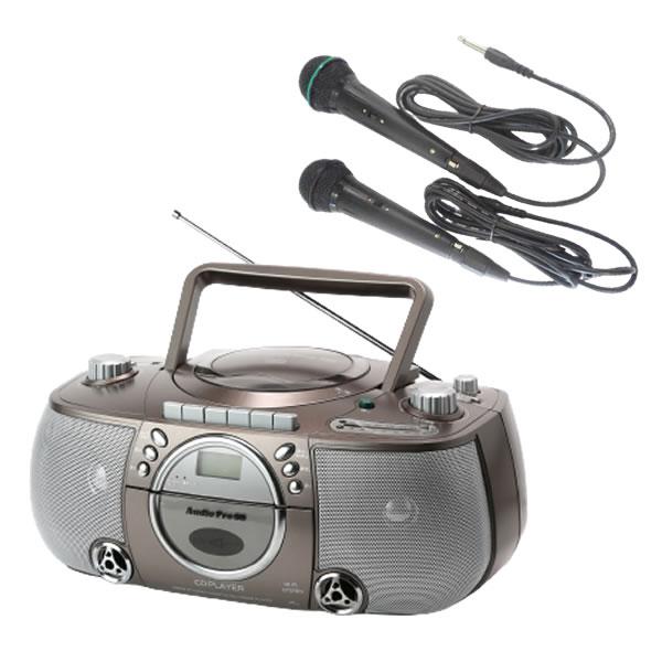 カラオケ ラジカセ cd プレーヤー CDラジカセ T-CDK-705 マイク2本付 TCDK705 とうしょう