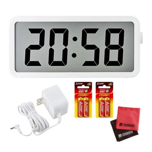 (ACアダプター&単三電池セット)(大型電波時計)キングジム ザラージ タイマークロック DTC-001W(ラッピング不可)