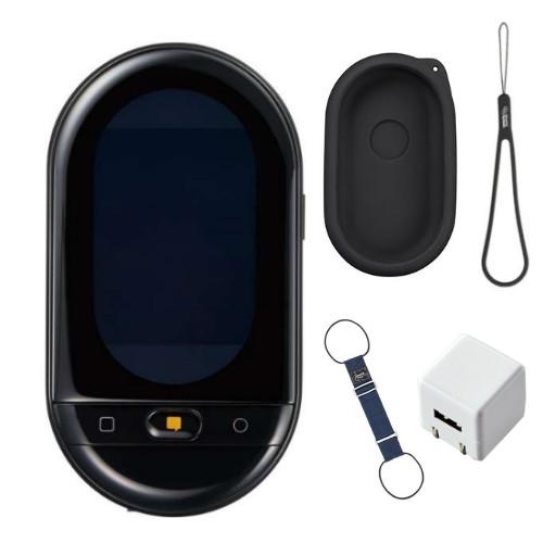 (12月6日発売予定)翻訳機 キングジム ポータブル翻訳機 ワールドスピーク HYP10クロ 専用ケース AC充電器 バッグとめるベルト付き