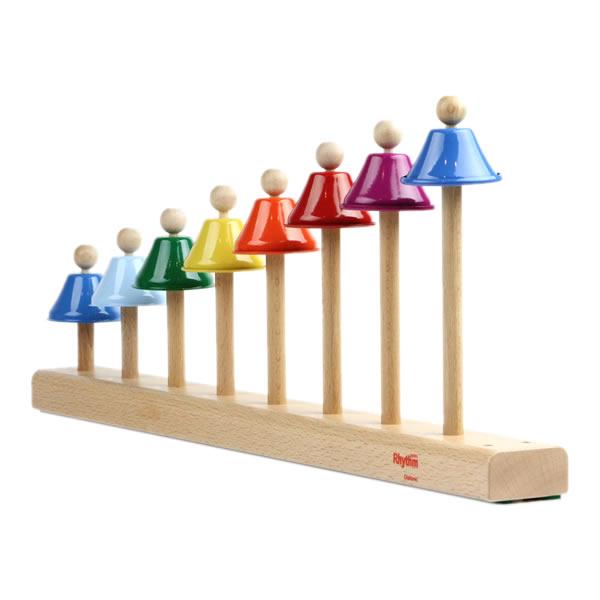 楽器 おもちゃ 知育玩具 木のおもちゃ リズムポコ エイトステップベル RP-980/SBL ナカノ 鉄琴