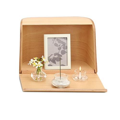 SEAL限定商品 季節の備えに 日本香堂 無料サンプルOK 仏具 やさしい時間祈りの手箱 92461 ラッピング不可 ナチュラル