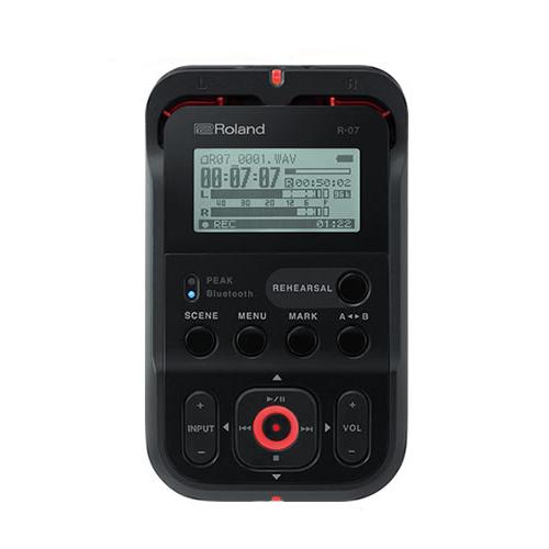(オーディオレコーダー) ローランド ブラック R-07 BK High Resolution Audio Recorder