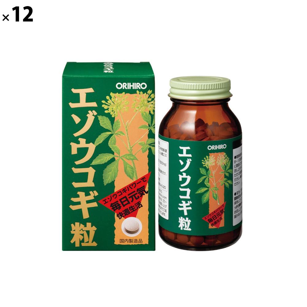 (12点セット)(サプリメント) オリヒロ エゾウコギ粒 (ラッピング不可)