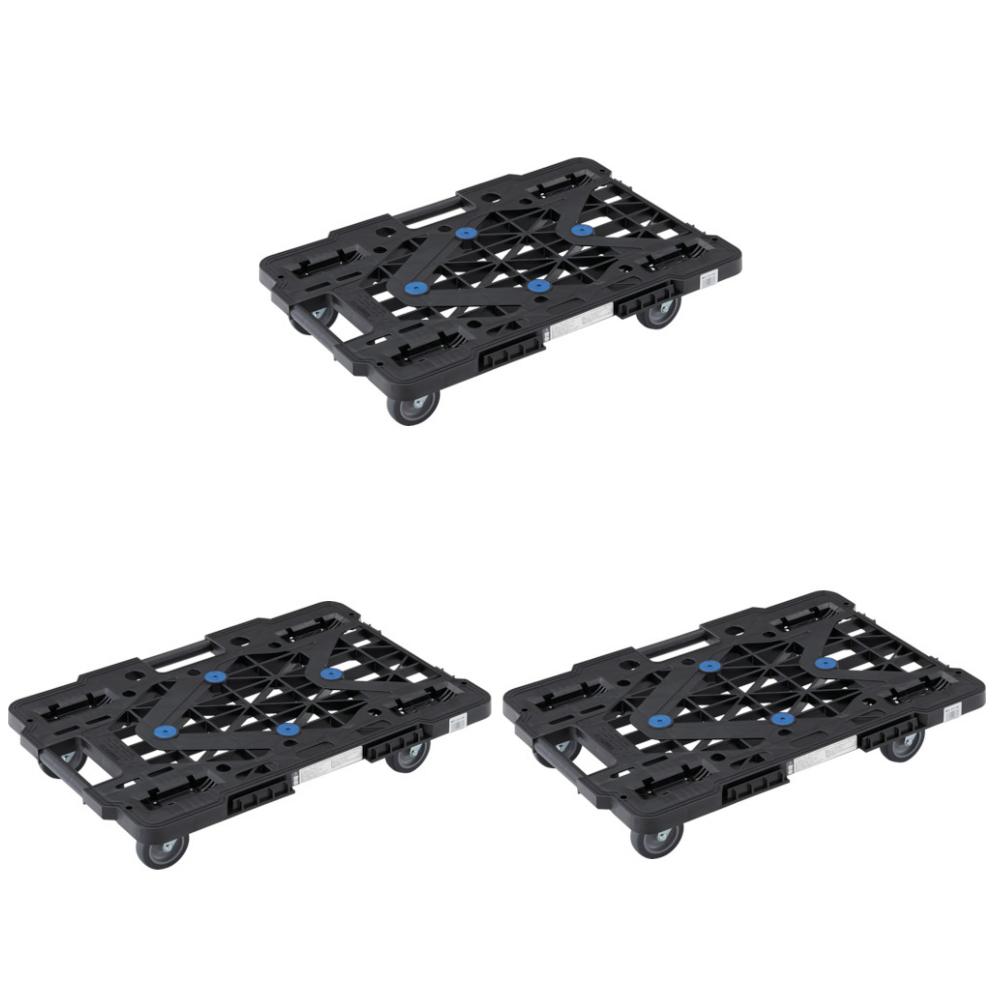 (3点セット) (平台車) TRUSCO ルートバンメッシュタイプ 615X415 オール自在 黒 MPK600JBK (3629554) (ラッピング不可)