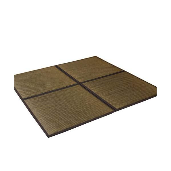 (メーカー直送)(代引不可) イケヒコ・コーポレーション 【ユニット畳】 8627720 い草 置き畳 低反発 『タイド』 ブラウン 約82×82×2.3cm(4枚1セット) (中材:低反発ウレタン+フェルト) (ラッピング不可)