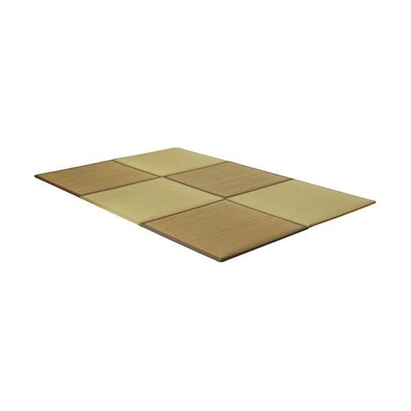 (メーカー直送)(代引不可)(ユニット畳)い草 置き畳 低反発 『タイド』 約82×82×2.3cm 6枚組(ベージュ3枚 ブラウン3枚)×1セット(ラッピング不可)