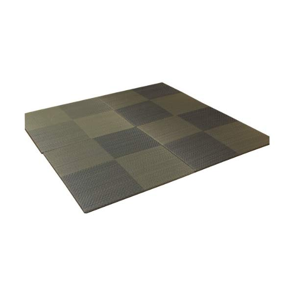 (メーカー直送)(代引不可) イケヒコ・コーポレーション 【ユニット畳】 8604320 い草 置き畳 国産 シンプル 4枚組(4P) 『シンプルノア』 ブルー 約82×82×1.7cm (ラッピング不可)