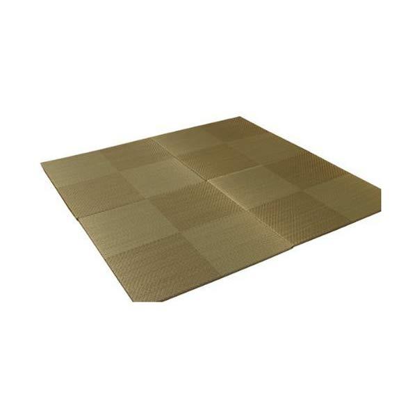 (メーカー直送)(代引不可) イケヒコ・コーポレーション 【ユニット畳】 8604420 い草 置き畳 国産 シンプル 4枚組(4P) 『シンプルノア』 ブラウン 約82×82×1.7cm (ラッピング不可)