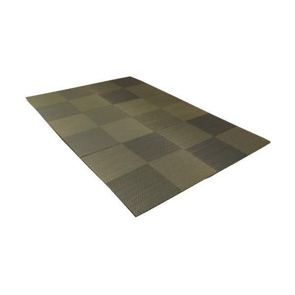 (メーカー直送)(代引不可) イケヒコ・コーポレーション 【ユニット畳】 8604330 い草 置き畳 国産 シンプル 6枚組(6P) 『シンプルノア』 ブルー 約82×82×1.7cm (ラッピング不可)