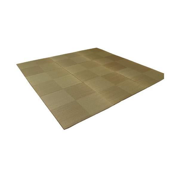 (メーカー直送)(代引不可) イケヒコ・コーポレーション 【ユニット畳】 8604440 い草 置き畳 国産 シンプル 9枚組(9P) 『シンプルノア』 ブラウン 約82×82×1.7cm (ラッピング不可)