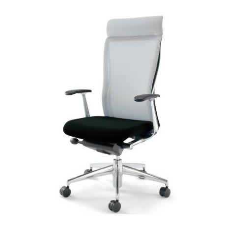 KOKUYO オフィスチェア フォスター(FOSTER) CR-G1403C1 [背面カラー:ホワイト] [ヘッドレスト・T型肘付] 【キャスター・座面カラー選択式】