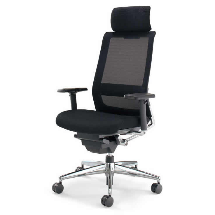 KOKUYO オフィスチェア エアフォート(AIRFORT) CR-GA2353 [ヘッドレスト・可動肘付] 【キャスター・カラー選択式】