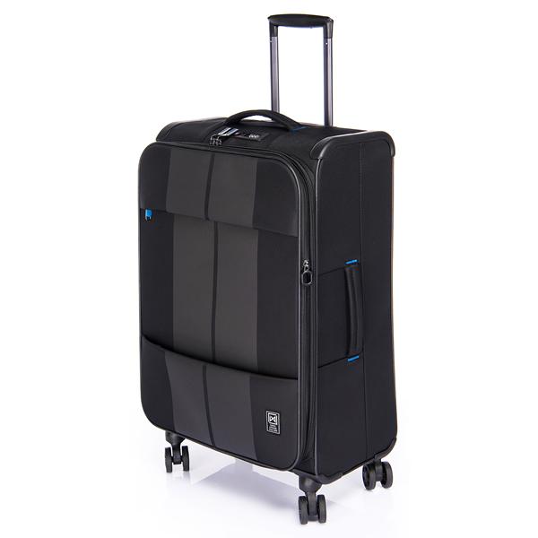 (ポイント10倍中!)(3~5泊用)サンコー鞄 スーツケース (FNZR-60) finoxy ZERO ソフトキャリー 約54(59)L ブラック (ラッピング不可)