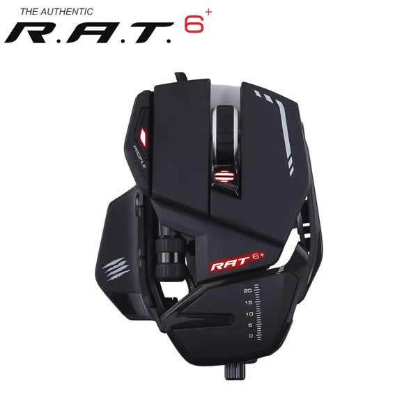 MadCATZ ゲーミングマウス R.A.T6+ 有線 ゲーミング マウス 黒 ブラック RAT6+ (MR04DCINBL000-0J) Windows対応
