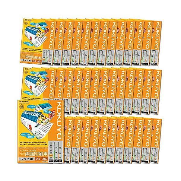 【★お得な40冊セット!】【送料無料】 コクヨ 【インクジェットプリンター用紙】 KJ-M26A4-30 A4サイズ [30枚/スーパーファイングレード/両面印刷用]