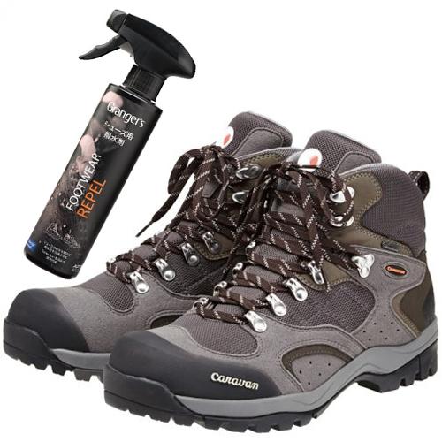 CARABAN(キャラバン)トレッキングシューズ C1_02S (100:グレー) &撥水剤セット(登山靴)(ラッピング不可)