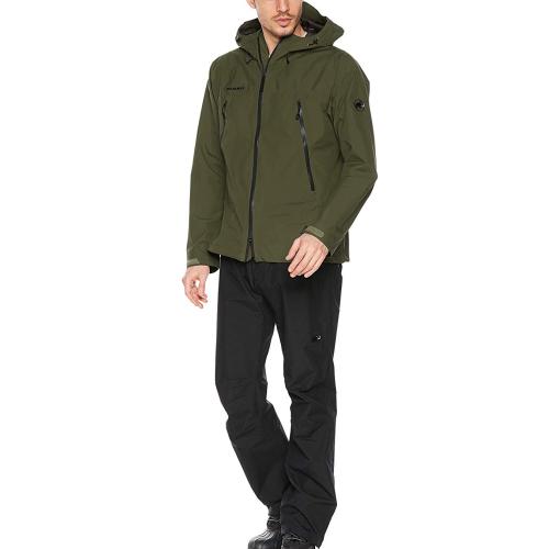 MAMMUT AF Men マムート 1010-26551 CLIMATE Rain -Suit -Suit AF Men (dark olive-black)(EUROサイズ)(メンズ/男性用)(レインスーツ), ブランドピースLUXURY:df32ef96 --- officewill.xsrv.jp