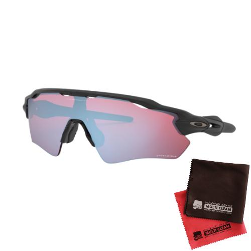 オークリー RADAR EV PATH Prizm Snow Sapphire レンズ(Matte Blackフレーム)OO9208-9738&マイクロファイバークロス 2点セット(サングラス)OAKLEY