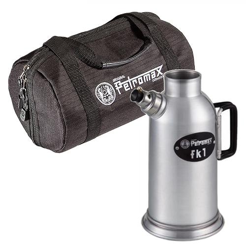 Petromax ペトロマックス ファイヤーケトル FK1 & キャリングケース FK1用 2点セット(12543-0&12612-3)(タンク容量/ 500ml)(キャンプ用ケトル)(ラッピング不可)