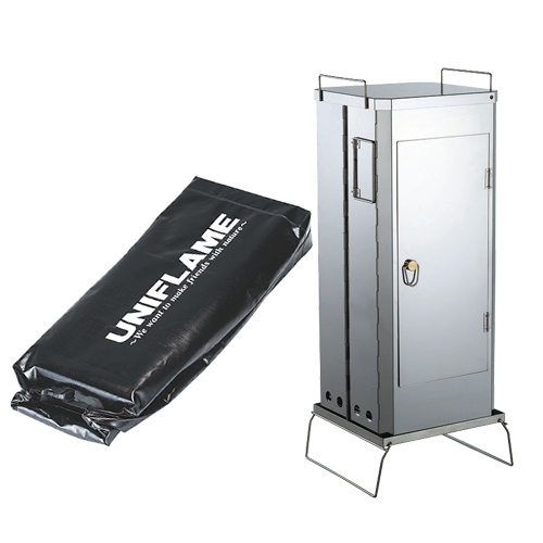 UNIFLAME ユニフレーム FS-600 フォールディングスモーカー&専用ケース 2点セット(665916&665947)(燻製器)(ラッピング不可)