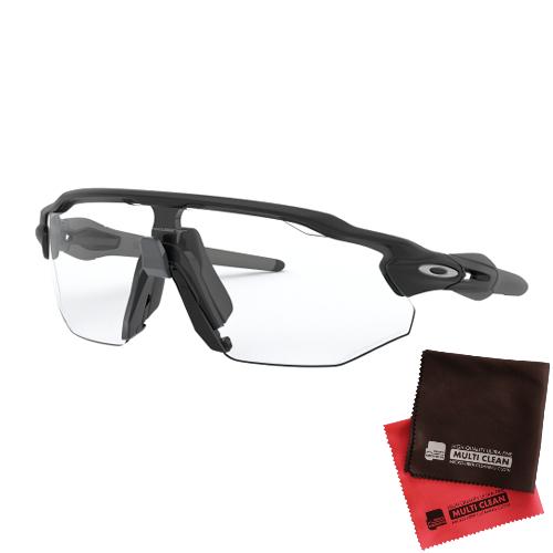 オークリー RADAR EV ADVANCER Clear Black Iridium Photochromic レンズ(Matte Blackフレーム)OO9442-0638&マイクロファイバークロス 2点セット(サングラス)OAKLEY(レーダー EVアドバンス)