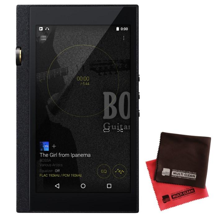 (ポータブルオーディオ&クロスセット) オンキョー DP-X1A(B)(DPX1A)ブラック デジタルオーディオプレーヤー & 当社オリジナルマイクロファイバークロス 2枚