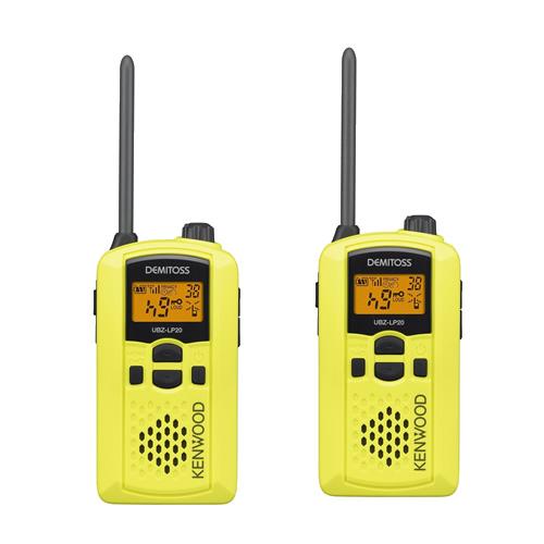 【2台セット】ケンウッド(KENWOOD) 特定小電力トランシーバー UBZ-LP20(Y) イエロー [デミトス/DEMITOSS][無線機]