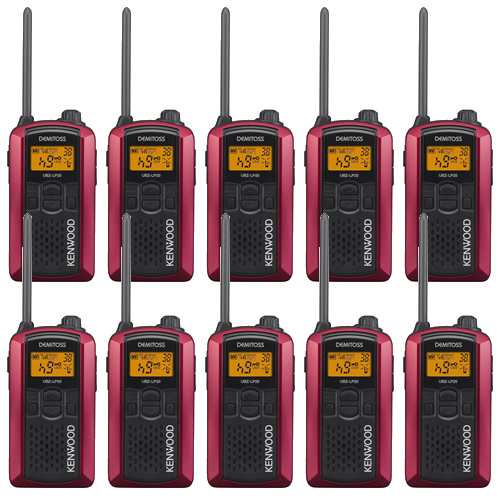 【10台セット】ケンウッド(KENWOOD) 特定小電力トランシーバー UBZ-LP20(RD) レッド [デミトス/DEMITOSS][無線機](ラッピング不可)