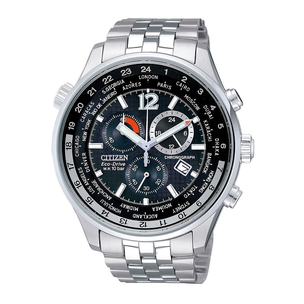 腕時計 CITIZEN(シチズン) 海外シチズン AT0365-56E エコ・ドライブ ソーラー (正規 逆輸入 国内メーカー保証) (ステンレスバンド 多針アナログ ソーラー)