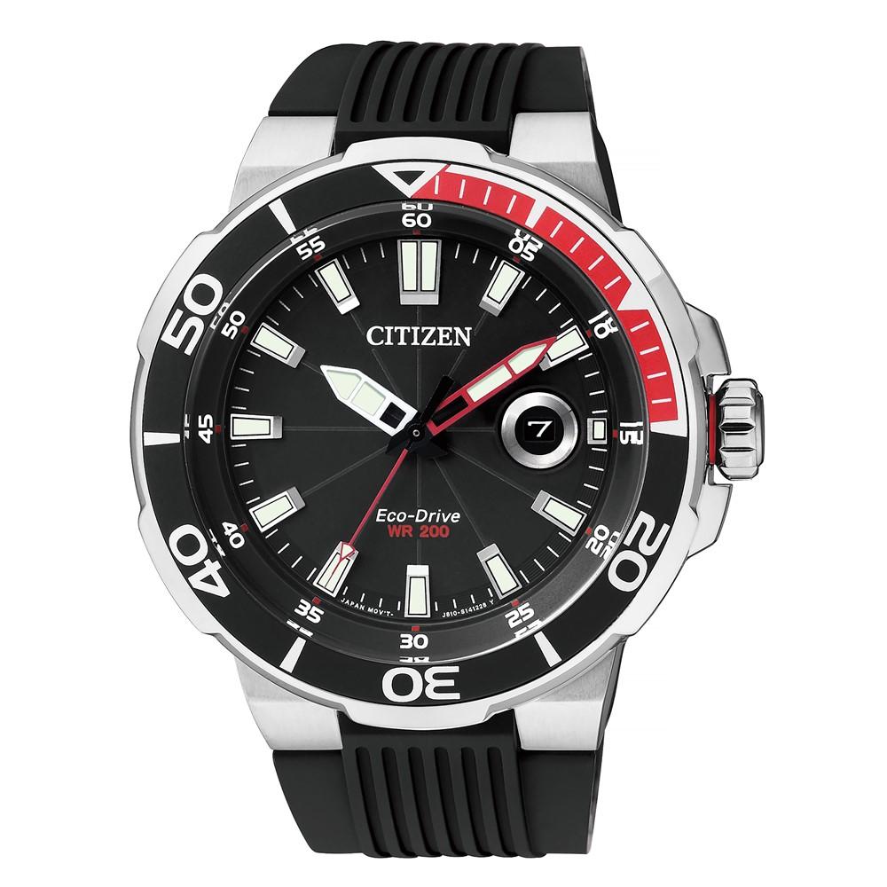 腕時計 CITIZEN(シチズン) 海外シチズン AW1420-04E エコ・ドライブ ソーラー (正規 逆輸入 国内メーカー保証) (樹脂バンド アナログ ソーラー)