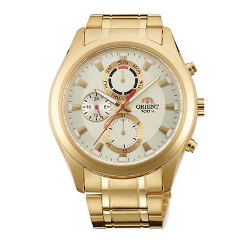 数量限定品!(正規品:国内メーカー保証付) ORIENT(オリエント)正規 逆輸入 海外モデル SUY07003C0 腕時計 ゴールド(メタルバンド) (メンズ腕時計)個性的