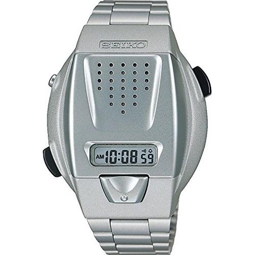 SEIKO(セイコー) 【腕時計】 【音声デジタル時計 音声デジタルウオッチ クオーツ ハードレックス シルバー】 SBJS001